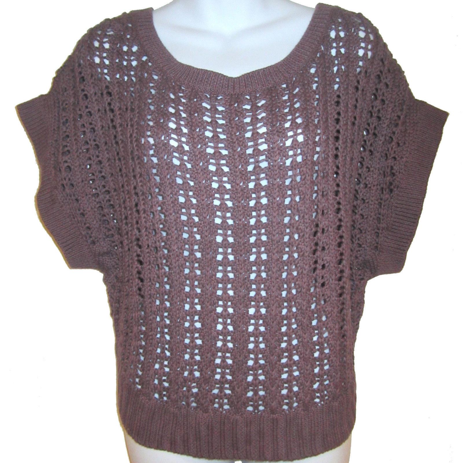 Banana Republic crochet sweater sz M purple and 50 similar items