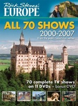 Rick Steve's Europe ● 12 DVD Set All 70 Shows ● 35 Hours of Sights & Ins... - $23.70