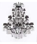 Swarovski Crystal Trimmed Chandelier! Large Foyer/Entryway Wrought Iron ... - $1,648.36