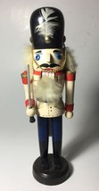 """Wooden Soldier Guard Nutcracker with a Billy Stick 9.5"""" - $19.95"""