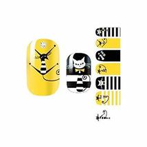 Set of 3 Lovely Cartoon Nails Accessories Black and Yellow Style Stickers