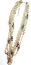 Vintage Signed PAMAR Multi-Chain & Italian Bead Necklace - $34.20