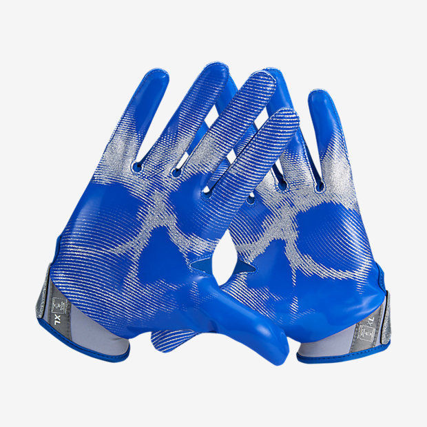 buy popular 3fb07 1a102 Nike Vapor Jet 4 Football Gloves BLUE GREY and 50 similar items. 57