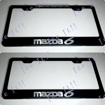 2X Mazda 6 Stainless Steel Black License Plate Frame Rust Free - $23.75