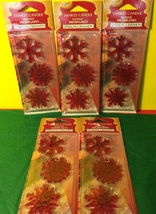 6 new 3 piece yankee candle scented snowflakes sparkling cinnamon - $20.00