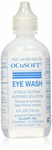 Ocusoft eye wash irrigating solution sterile isotonic buffered 4oz - $8.37
