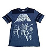 Star Wars Retro 1977 Movie Cast Princess Leia Men's Navy Graphic T-Shirt... - $11.75