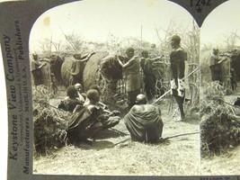 6 African Stereoscope Cards Stereo Keystone Congo Cape Town Jungle Masai... - $23.75