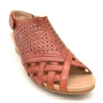 Earth Women Pisa Galli Leather Wedge Slingback Sandals Terracotta Size 8... - $37.99