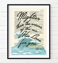 Mightier Than the Waves of the Sea Is His Love for You, Psalm 93:4, Christian Un