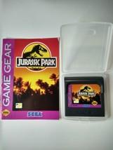 Vintage Jurassic Park Sega Game Gear 1993 Cartridge, Case, And Manual Untested - $11.88