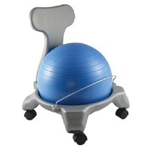 """CanDo Plastic Mobile Ball Chair, Child Size, 15"""" - £84.67 GBP"""