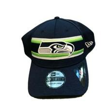 NWT New Seattle Seahawks New Era 39Thirty Striped Front Team L/XL Flex-F... - £16.28 GBP