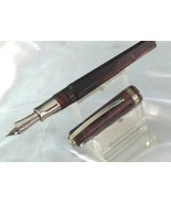 Visconti Wall Street Fountain Pen Red 14 Kt Fine Nib Celluloid - $410.85
