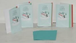 Hallmark XZH 144 4 Snowman Penguin Friends Christmas Card Quad Fold Package 4 image 1