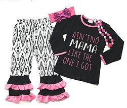 "Cute Kids Clothing Girl's ""Ain't No Mama Like The One I Got"" Pant Outfit... - $26.99"