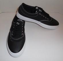 Mens 9 Womens 10.5 CONVERSE Crimson Canvas OX Sneakers Shoes Black New 153465C - $42.04