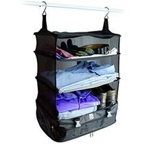 Suitcase Portable Luggage System Organizer Hanging Travel Shelves Packin... - $780,42 MXN