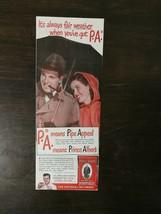 Vintage 1947 Prince Albert Crimp Cut Tabacco Original Color Ad - $6.64