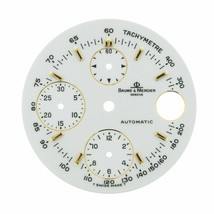 Baume & Mercier Geneve 29 mm Sticks Chronograph White Color Watch Dial - $189.00