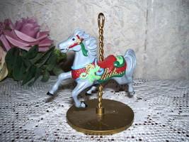 HALLMARK CHRISTMAS CAROUSEL HORSE  HOLLY 1989 #2 IN SERIES - $17.66