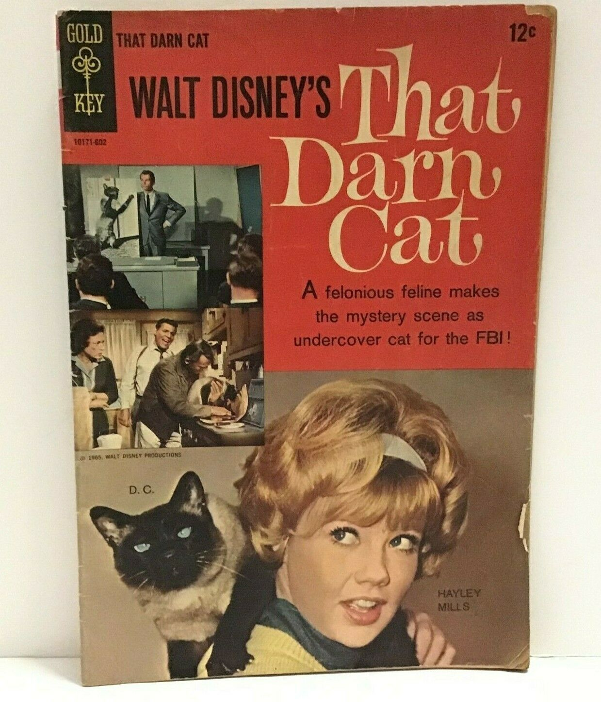 Walt Disney's That Darn Cat Gold Key Comics 1965 Comic Book Mystery  - $18.80