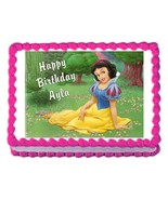 Snow White Princess Edible Cake Image Cake Topper - $8.98+