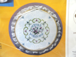 Cross Stitch Sister Is A Forever Friend 1985 Creative Circle No. 1951 - $9.99