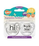 Ulubulu Binky Set - Unisex - 0-6 months - Hi & Rock Star Pacifier - 2 So... - $12.99