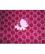 "Taggies Elephant Baby Blanket Purple Maroon Circles Dots 30"" x 40"" - $39.48"