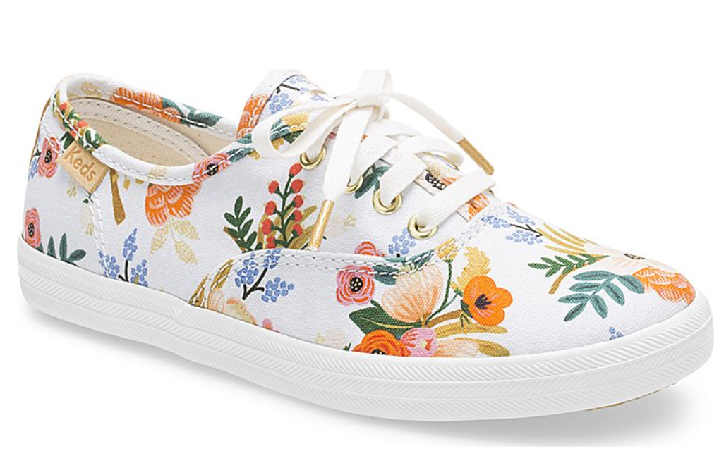 4ae5138f839209 Keds Rifle paper co. Champion lively white Sz. 2 Girls -  18.05