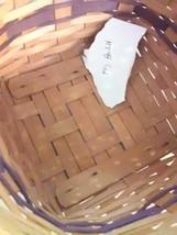 Longaberger May Basket - 1997 - Leather Strap Handles image 2