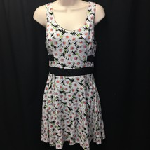 LUSH Dress Floral Print Lace See Through Stomach Size Medium - $19.99
