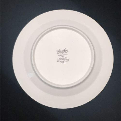 """American Atelier Porcelain Canape Plate Jingle Belles 5419 Holly Berry 6 1/2"""""""