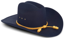Western Cowboy Hat Cattlemans With Cavalry Band Black (Small/Medium) Wes... - $49.50
