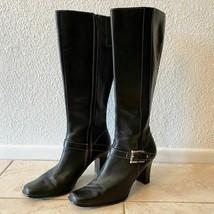Anne Klein black knee high heel boots size 7.5 - $24.19