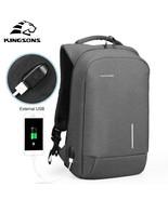 Kingsons® External USB Charging Laptop Backpacks School Backpack Bag Ant... - $75.49+