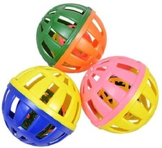 Kitten Cat Kitty Large Plastic Ball w Bell Toys, 2 Toys/Pk, Select: Colors - $2.99