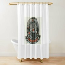 USMC VMM-262 Flying Tigers (REIN) Black Gray Shower Curtain - $98.99