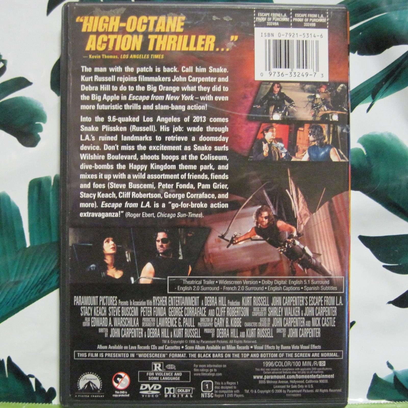 DVD Escape From L.A. Kurt Russell Stacy Keach Steve Buscemi Widescreen image 2