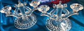 Vintage Indiana Glass Candlestick  set - $25.00