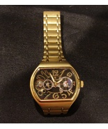 Unique Louis Bolle PIONEER 2 Mechanical Multi-Function Watch Gold Tone B... - $135.00