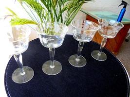 Set of 4 Seneca Vintage Cordial Glasses - $24.74