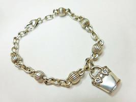 "Brighton Silver Handbag Charmed Life Chain Link Bracelet 8"" - $9.45"