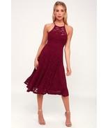 Stunner Lady My Kingdom Burgundy Lace Midi Dress - XS - $50.00