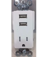 Legend - TM8-USBWCC6 Trade Master USB Charger Receptacle - White - $19.26
