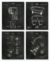 "Bathroom Patent Art Prints - 8""x10"" Set of 4 - Restroom Powder Room Wall... - $16.82"
