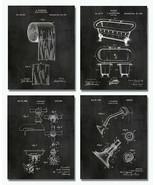 "Bathroom Patent Art Prints - 8""x10"" Set of 4 - Restroom Powder Room Wall... - $16.82"