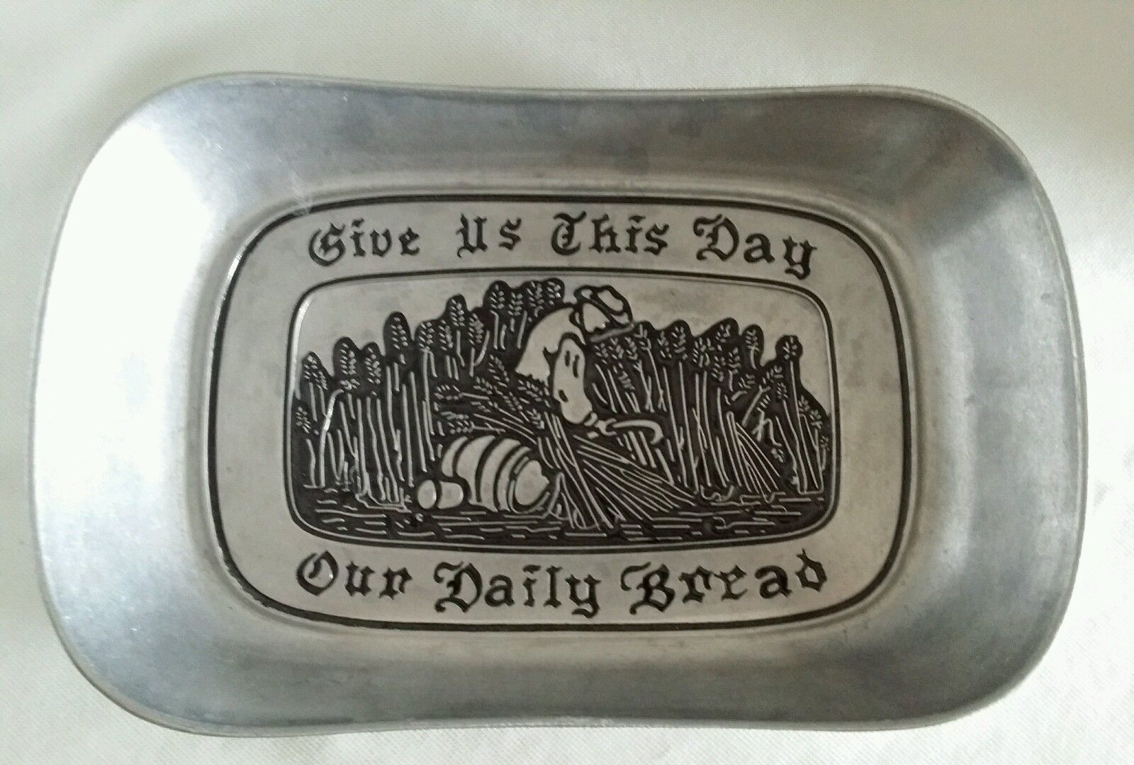 Primary image for Wilton Armetale Serveware Give Us This Day Our Daily Bread  Lg Bread Tray 601009