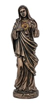Immaculate Heart of Mary Blessed Mother Virgin 11 Inch Bronze Statue - $99.99